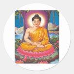 El Buda Pegatina Redonda