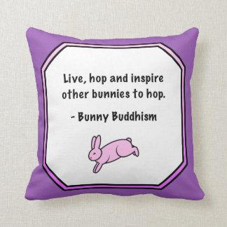 """El Buddhism del conejito """"inspira a otros que salt Cojines"""