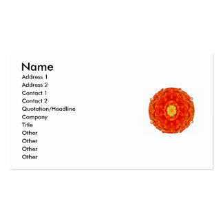 El budista de zen inspiró tarjetas de visita de Ma