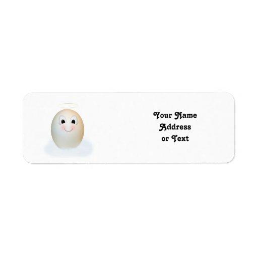 El buen ángel del huevo etiqueta de remite