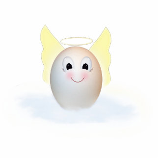 El buen ángel del huevo fotoescultura vertical