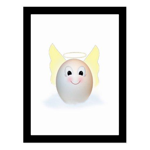 El buen ángel del huevo postal