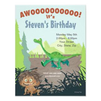 """El buen cumpleaños del dinosaurio invitación 4.25"""" x 5.5"""""""