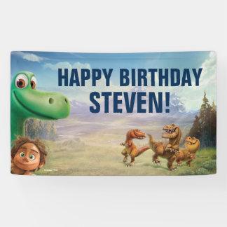 El buen cumpleaños del dinosaurio lona