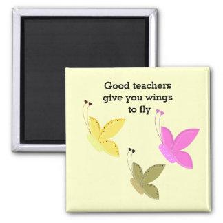 El buen decir de la mariposa de los profesores imán cuadrado
