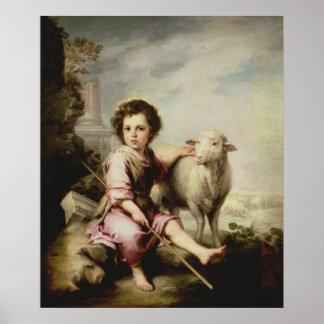 El buen pastor, c.1650 póster