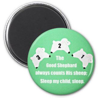 El buen pastor cuenta siempre sus ovejas… imán redondo 5 cm