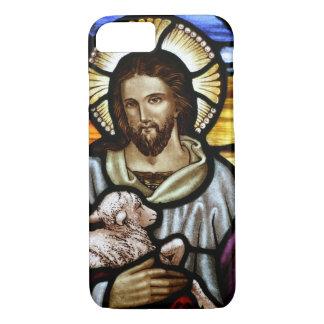 El buen pastor; Jesús en el vitral Funda iPhone 7
