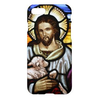 El buen pastor; Jesús en el vitral Funda Para iPhone 7