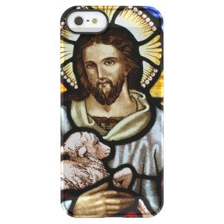 El buen pastor; Jesús en el vitral Funda Permafrost® Para iPhone SE/5/5s
