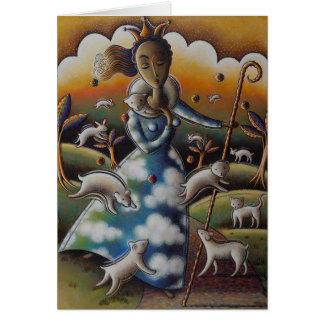 El buen pastor tarjeta pequeña