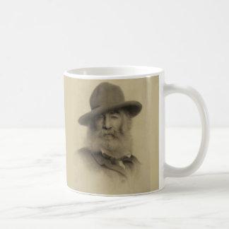 El buen poeta gris taza básica blanca