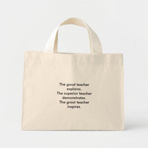 El buen profesor explica. El profesor superior… Bolsa Tela Pequeña