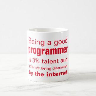 El buen programador taza básica blanca