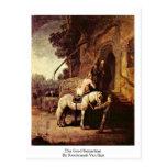 El buen samaritano de Rembrandt Van Rijn Postales