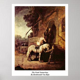 El buen samaritano de Rembrandt Van Rijn Posters