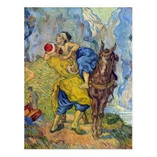 El buen samaritano de Vincent Willem Van Gogh Tarjeta Postal