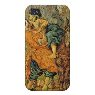 El buen samaritano después de Delacroix de Van Gog iPhone 4/4S Funda