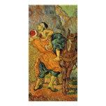 El buen samaritano después de Delacroix de Van Tarjetas Con Fotos Personalizadas