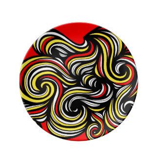 El buen sorprender práctico colorido platos de cerámica