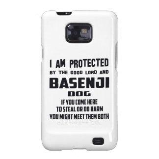 El buenos señor y perro de Basenji me protejo Samsung Galaxy S2 Fundas