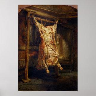 El buey matado, 1655 póster