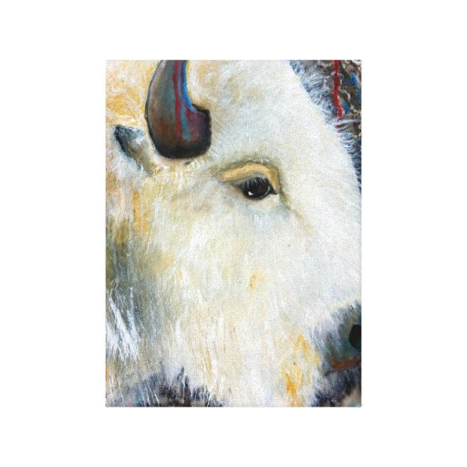 """El búfalo blanco 'yo cae detrás de """" impresión en lona estirada"""