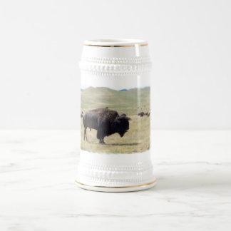 El búfalo caza la cerveza Stein Taza De Café