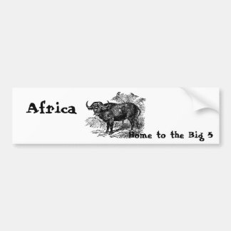 El búfalo Collectio Etiqueta De Parachoque