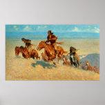 El búfalo Runners (1909) de Federico Remington Posters