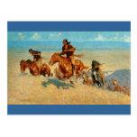 El búfalo Runners (1909) de Federico Remington Postal