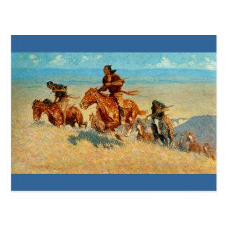 El búfalo Runners (1909) de Federico Remington Tarjeta Postal