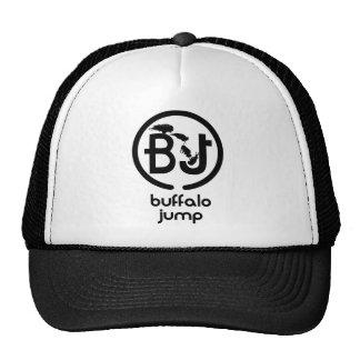 El búfalo salta el logotipo gorras de camionero