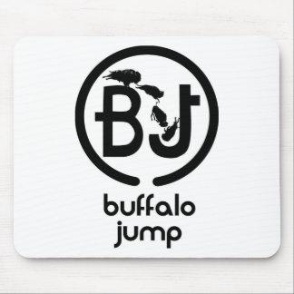 El búfalo salta el logotipo alfombrilla de raton