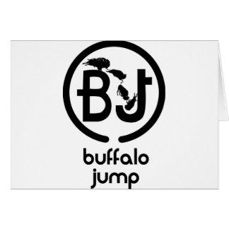 El búfalo salta el logotipo tarjetón