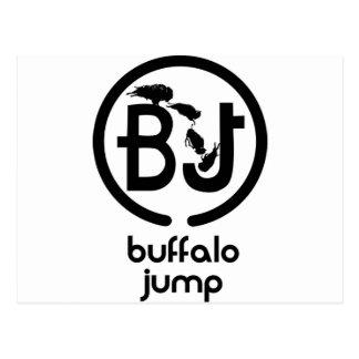 El búfalo salta el logotipo postal