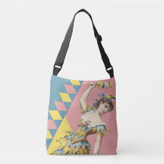 El bufón del vintage cruza encima el bolso bolsa cruzada