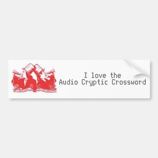 El bugle: Amo el crucigrama secreto audio Pegatina Para Auto