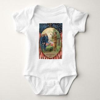 El bugle de la bandera de los E.E.U.U. golpea Body Para Bebé