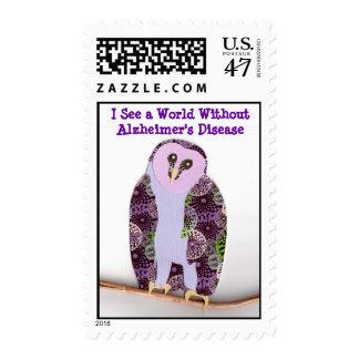 El búho 1b ve un mundo sin Alzheimer Estampillas
