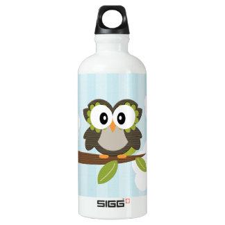 El búho azul BPA libera Botella De Agua