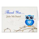 El búho azul caprichoso le agradece las tarjetas