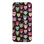 el búho colorido lindo embroma el modelo iPhone 5 protectores