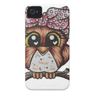 El búho de Adriana de Cheri Lyn Shull iPhone 4 Case-Mate Protectores
