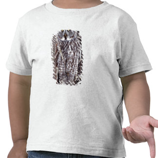 El búho de gran gris, manganeso de la ciudad del camisetas