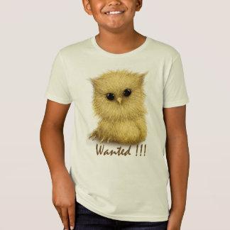 El búho del bebé quiso la camiseta orgánica de los
