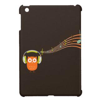 El búho esté escuchando la música {el mini caso de iPad mini fundas