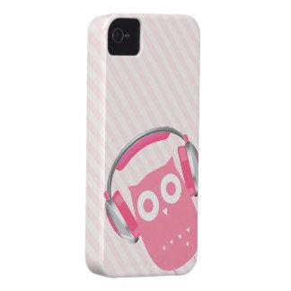 ¡El búho esté escuchando la música! Funda Para iPhone 4