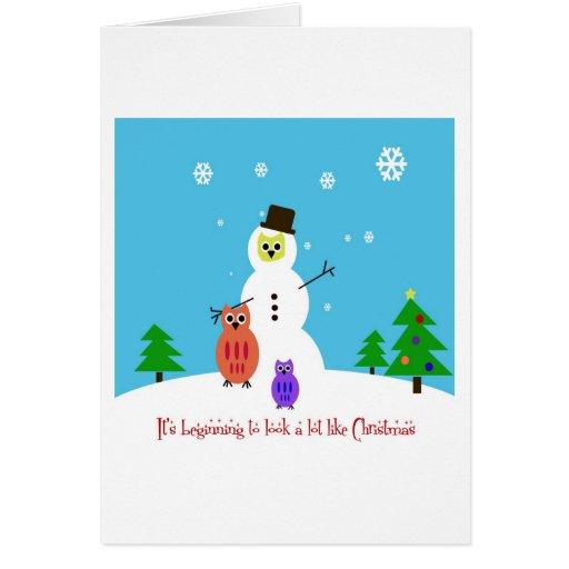 El búho I quiere para el navidad Tarjeta De Felicitación