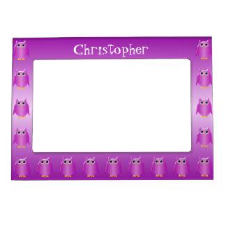 El búho púrpura apenas añade nombre marcos magnéticos para fotos